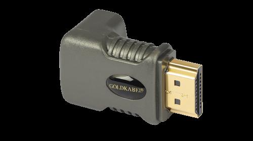 Goldkabel profi HDMI WINKELADAPTER 270 Grad